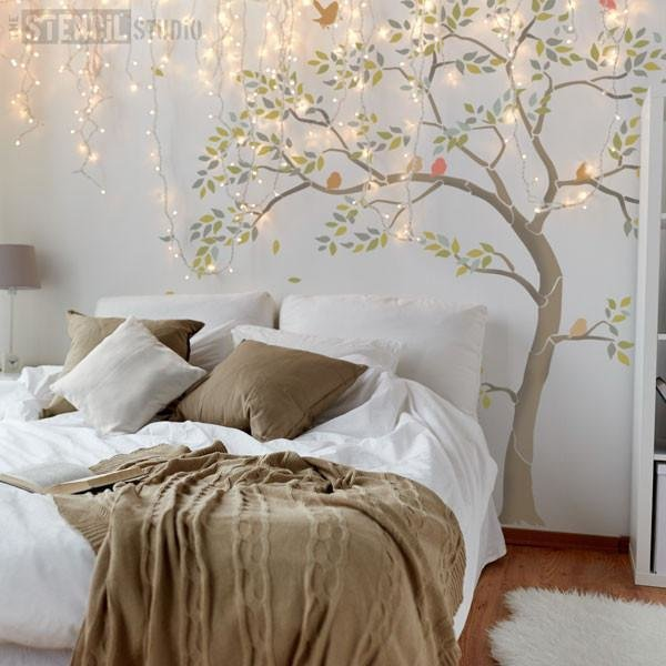 Best Large Tree Stencils For Walls Bird Stencil Branch With Pictures