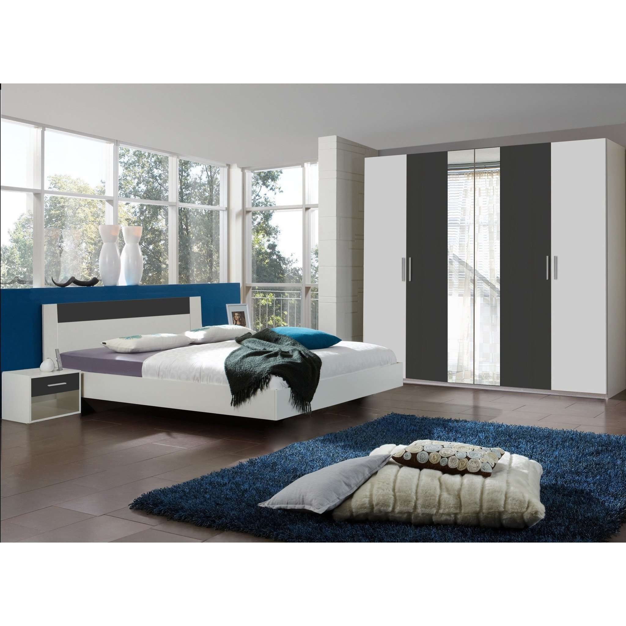 Best Qmax Liana Range German Made Bedroom Furniture White Anthracite – Freedom Homestore With Pictures