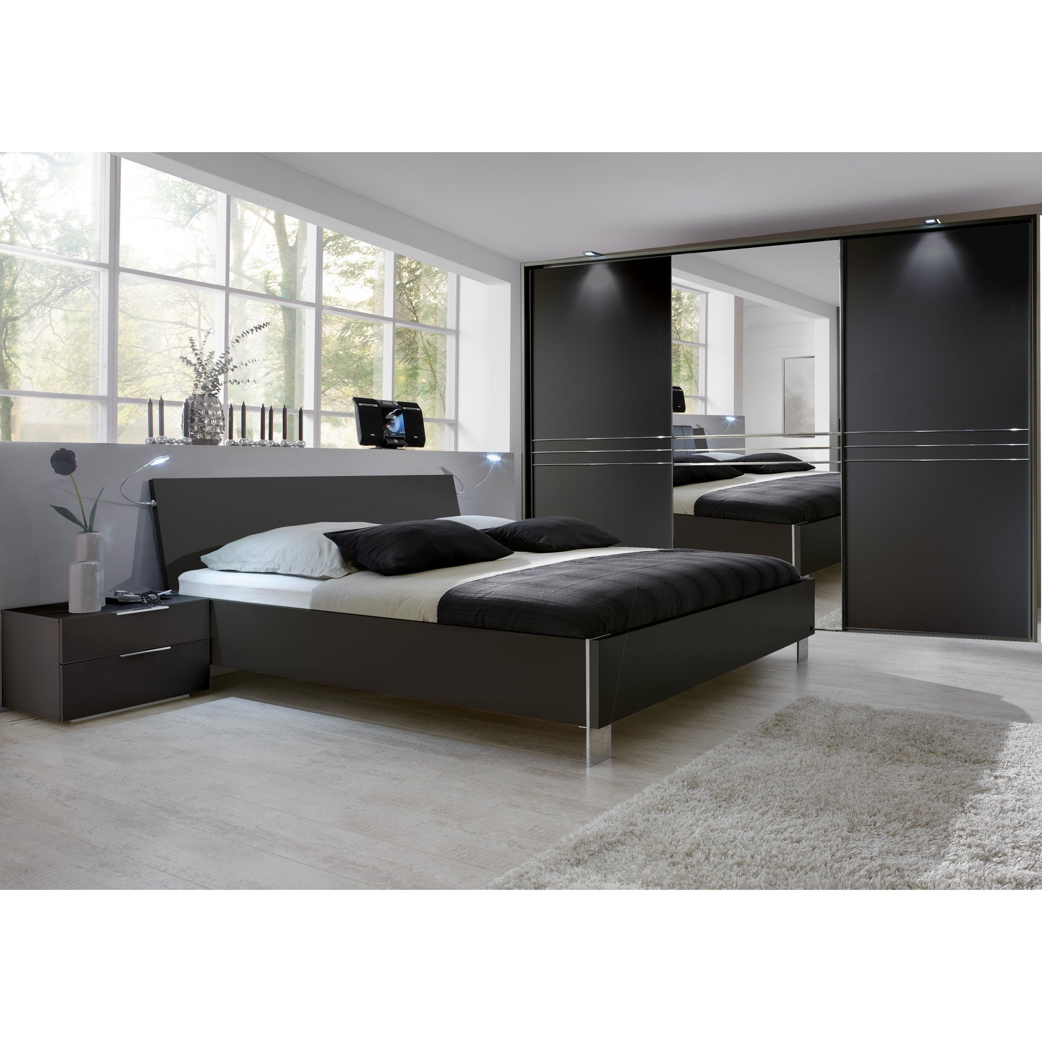 Best Qmax Medway German Bedroom Furniture Lava Brown Black – Freedom Homestore With Pictures