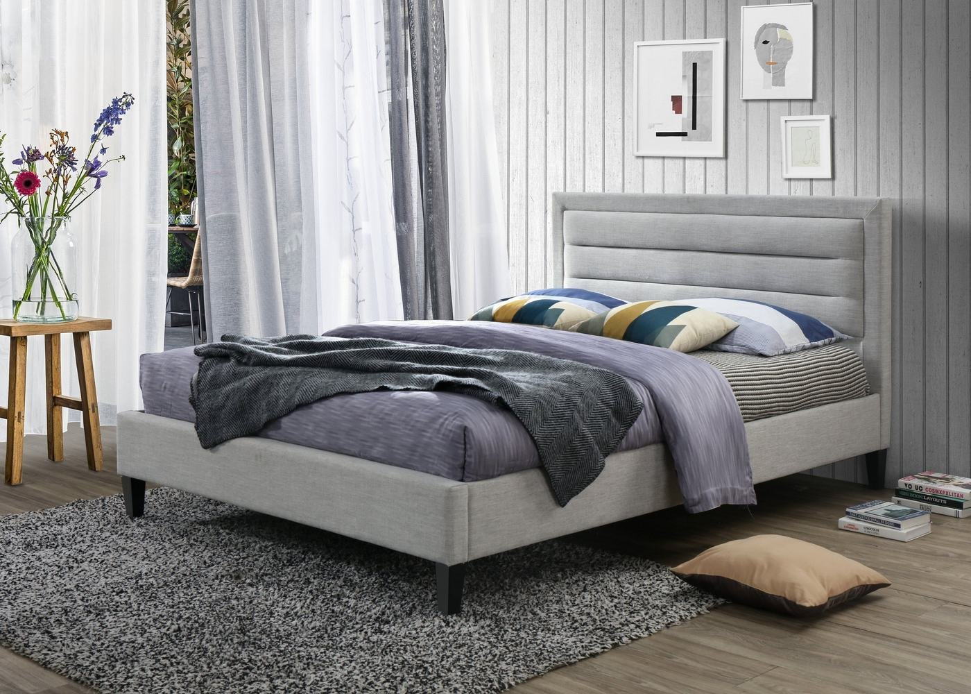 Best Powell Kyle Complete Bed Set With 8 Inch Memory Foam With Pictures