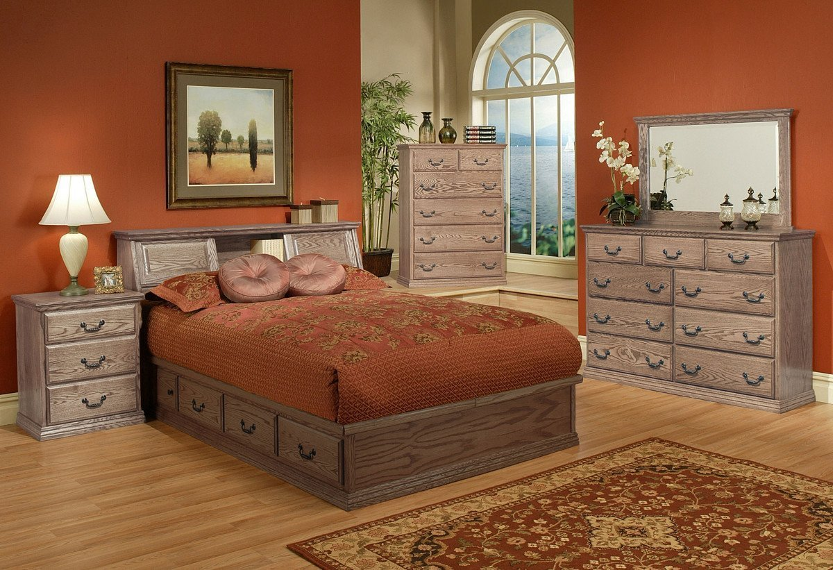 Best Traditional Oak Platform Bedroom Suite Queen Size With Pictures