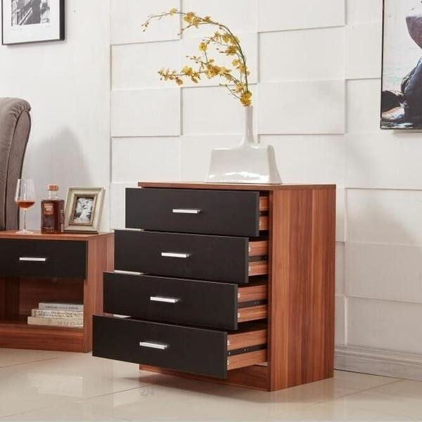 Best Black Walnut 4 Drawers Bedroom Chest – Novielo London With Pictures