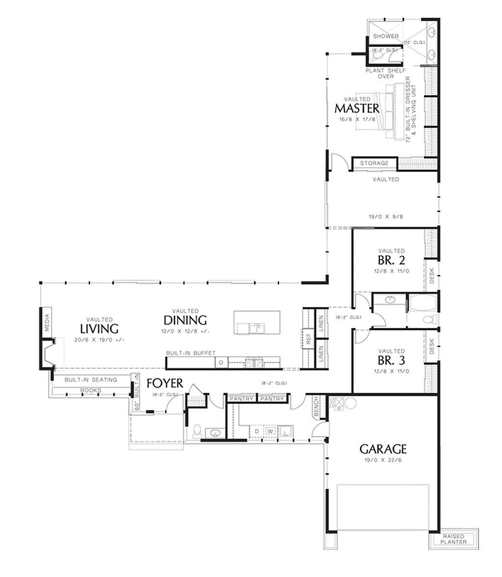 Best Modern Style House Plan 3 Beds 2 5 Baths 2498 Sq Ft Plan With Pictures