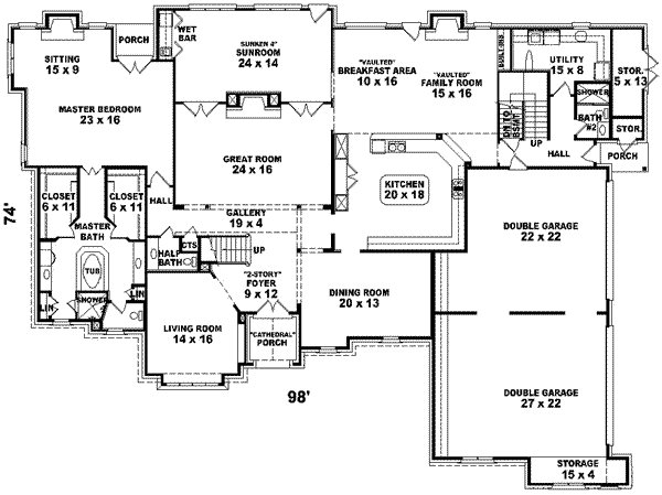 Best European Style House Plan 6 Beds 4 00 Baths 7700 Sq Ft With Pictures