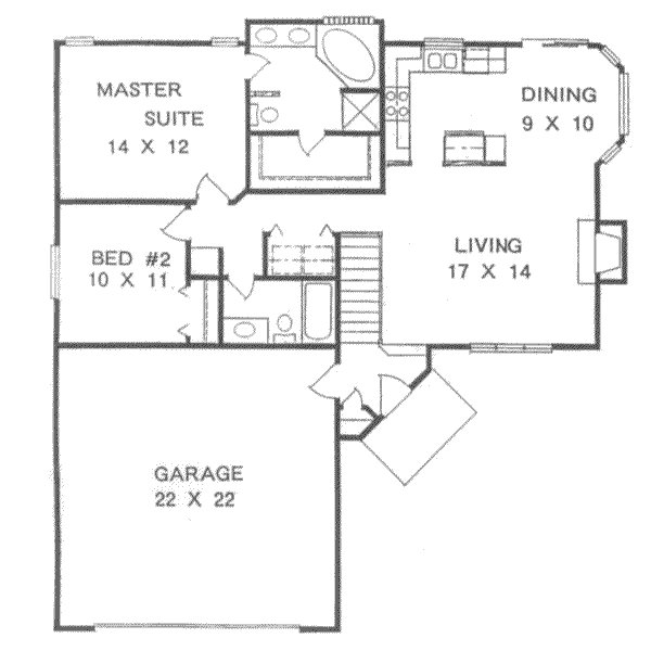 Best Ranch Style House Plan 2 Beds 2 00 Baths 1076 Sq Ft Plan With Pictures