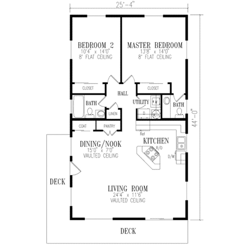 Best Ranch Style House Plan 2 Beds 1 5 Baths 1115 Sq Ft Plan 1 172 With Pictures