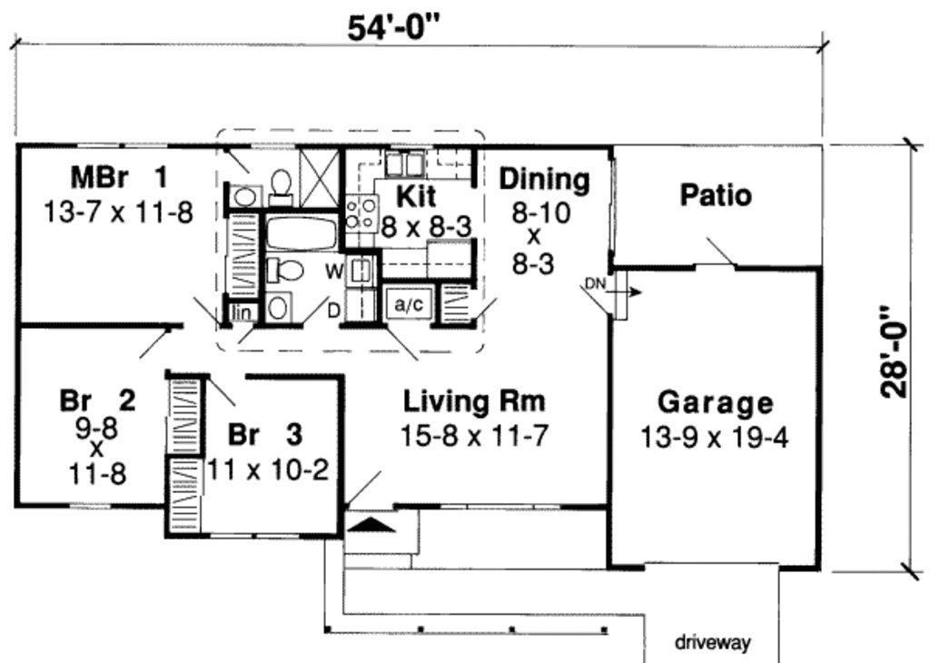 Best Ranch Style House Plan 3 Beds 2 Baths 984 Sq Ft Plan 312 542 With Pictures