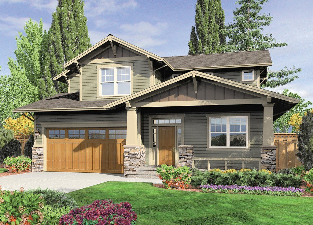 Best Craftsman Style House Plan 3 Beds 2 5 Baths 2002 Sq Ft With Pictures