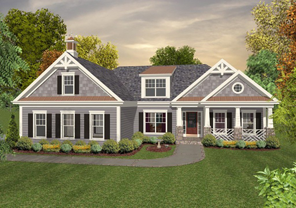 Best Craftsman Style House Plan 4 Beds 4 Baths 1700 Sq Ft With Pictures