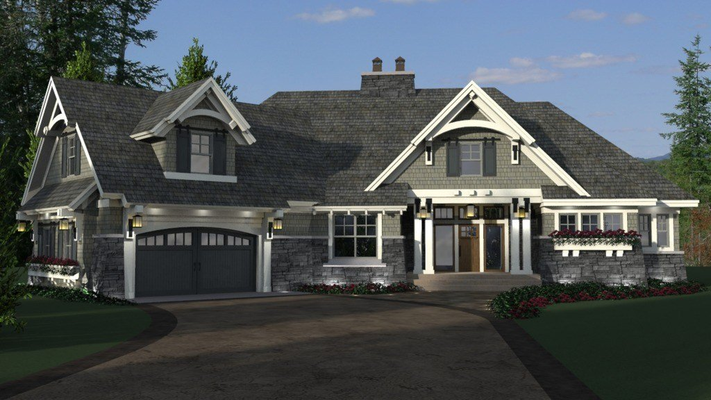 Best Craftsman Style House Plan 4 Beds 3 Baths 2374 Sq Ft With Pictures