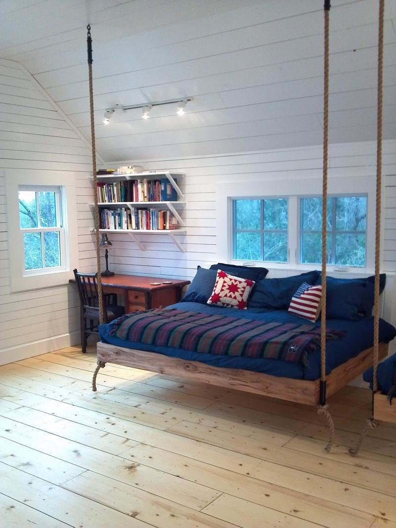 Best Suspended In Style 40 Rooms That Showcase Hanging Beds With Pictures