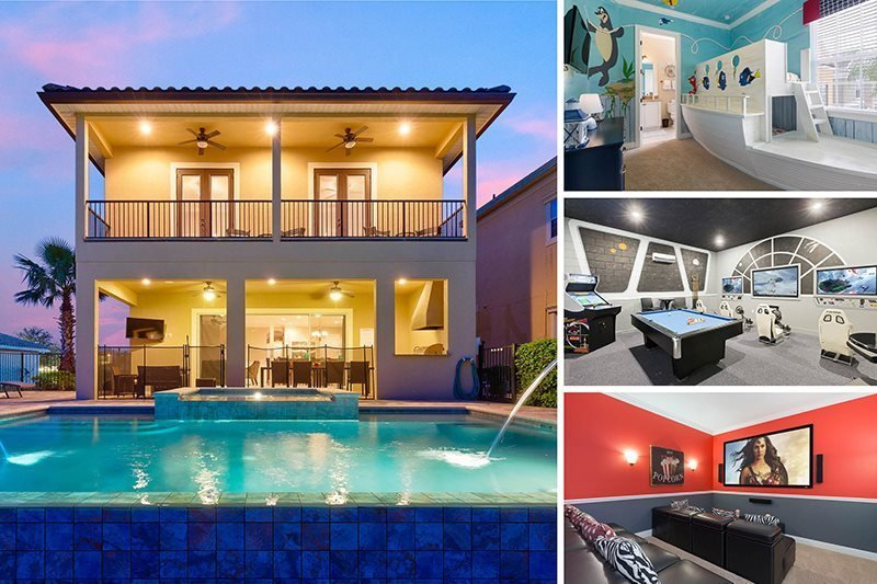 Best 7 Beds Vacation Rental With Infinity Pool Theater And With Pictures