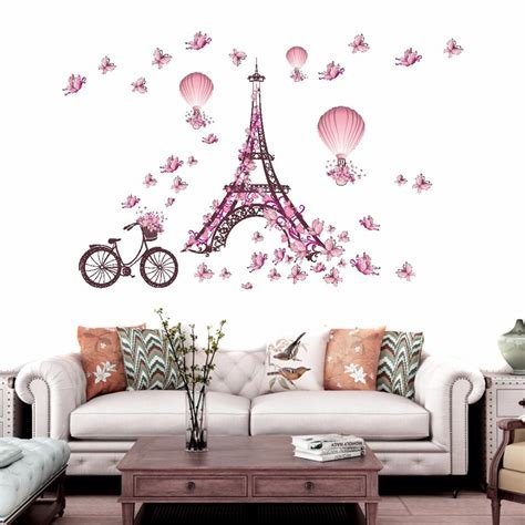 Best Removable Bedroom Paris Eiffel Tower Art Decal Wall With Pictures