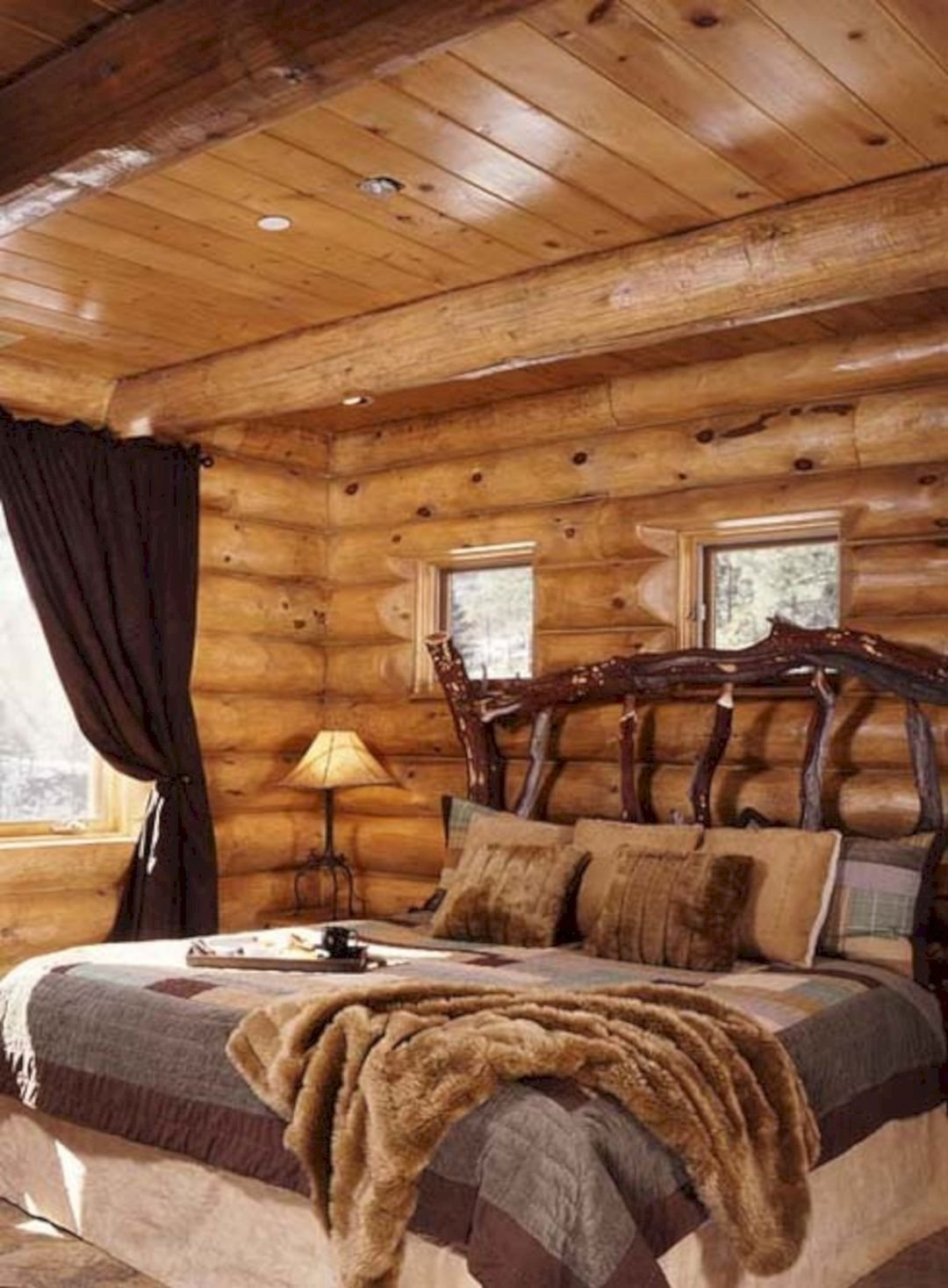 Best Rustic Cabin Bedroom Decorating Ideas Rustic Cabin With Pictures