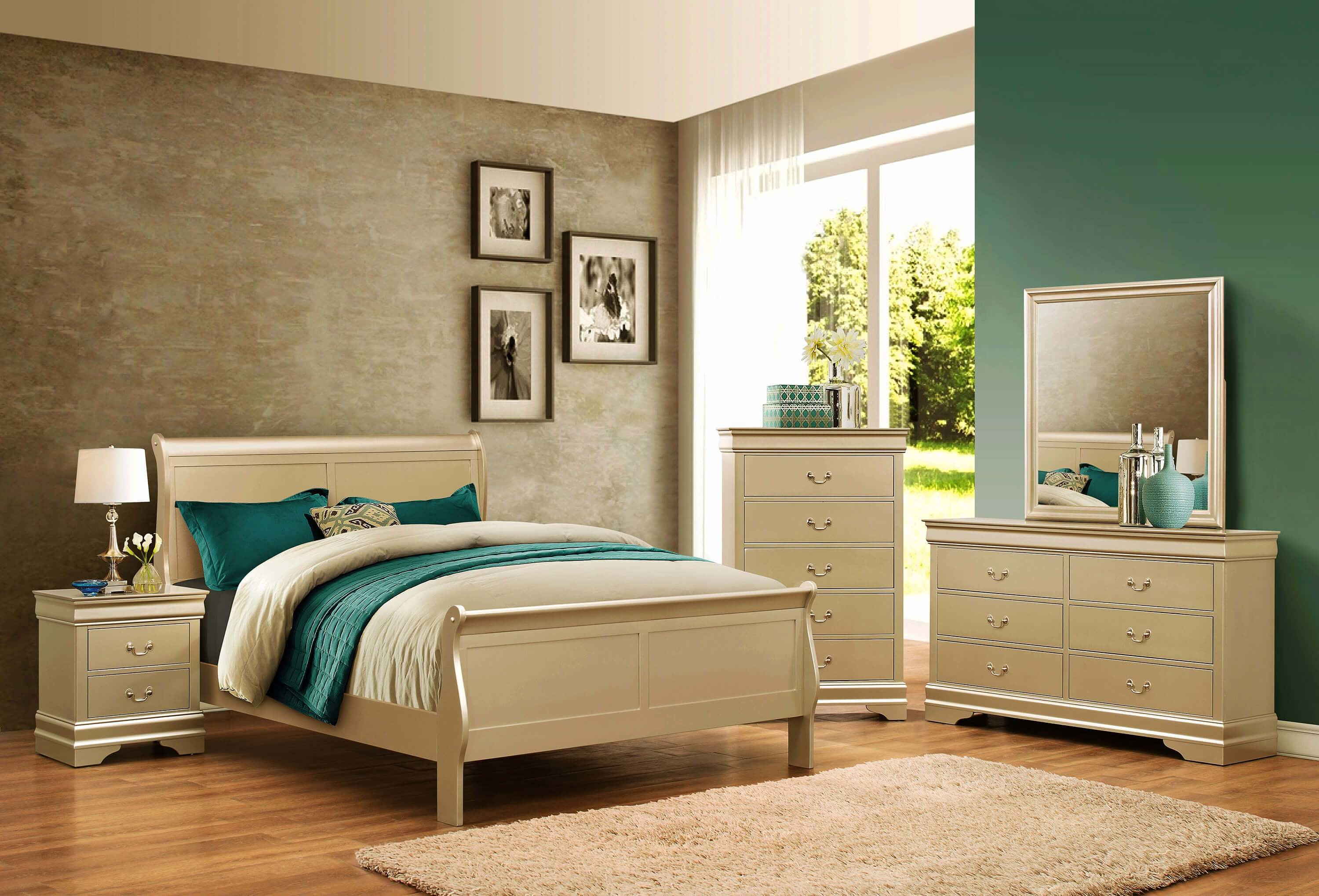 Best Champagne Louis Philip Bedroom Set Bedroom Furniture Sets With Pictures