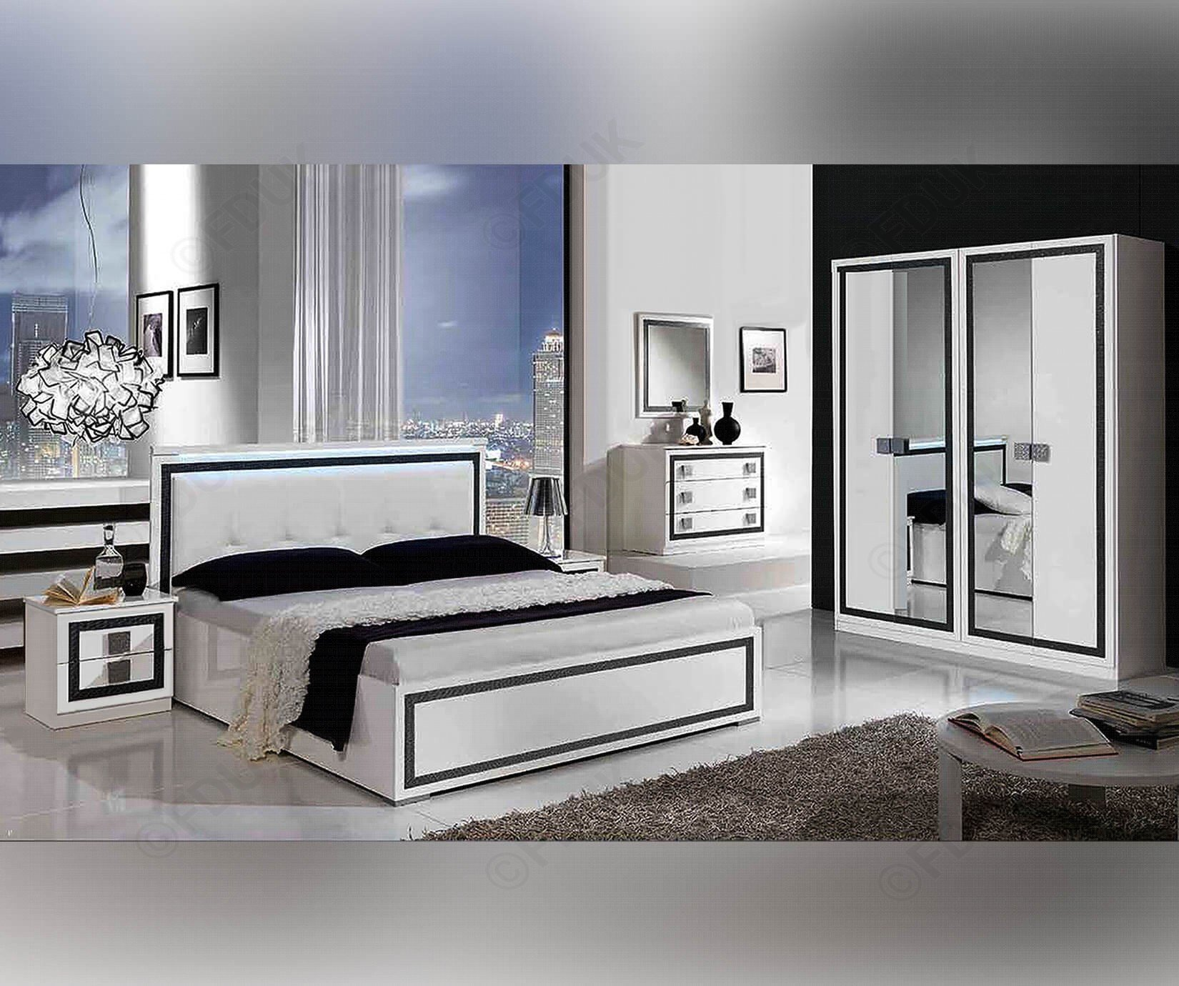 Best Mcs Thema Thema White Finish Italian Bedroom Set Furnituredirectuk Net With Pictures