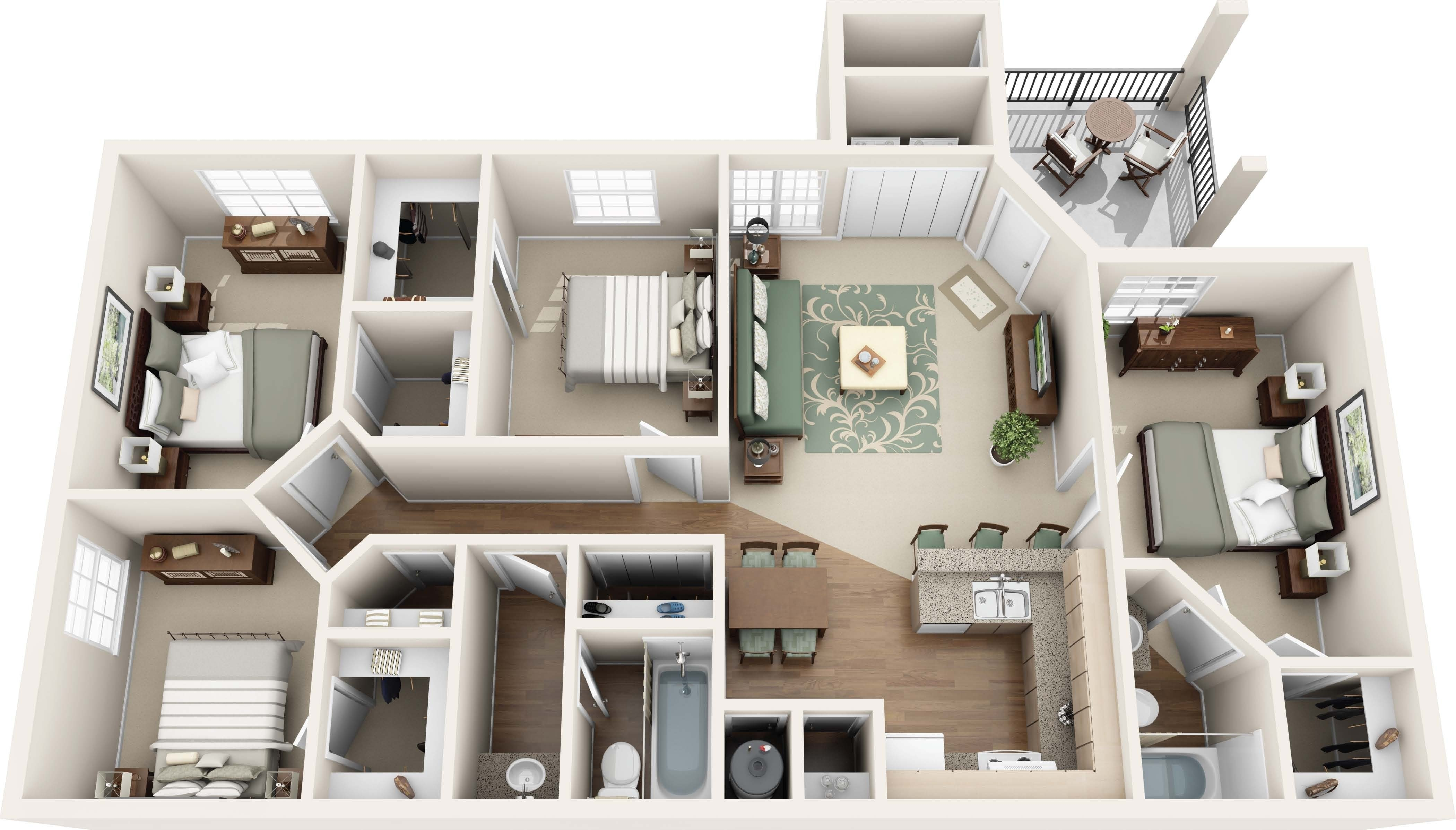 Best Beautiful Apartment 3 Bedroom 2 Bath For Rent With Pictures