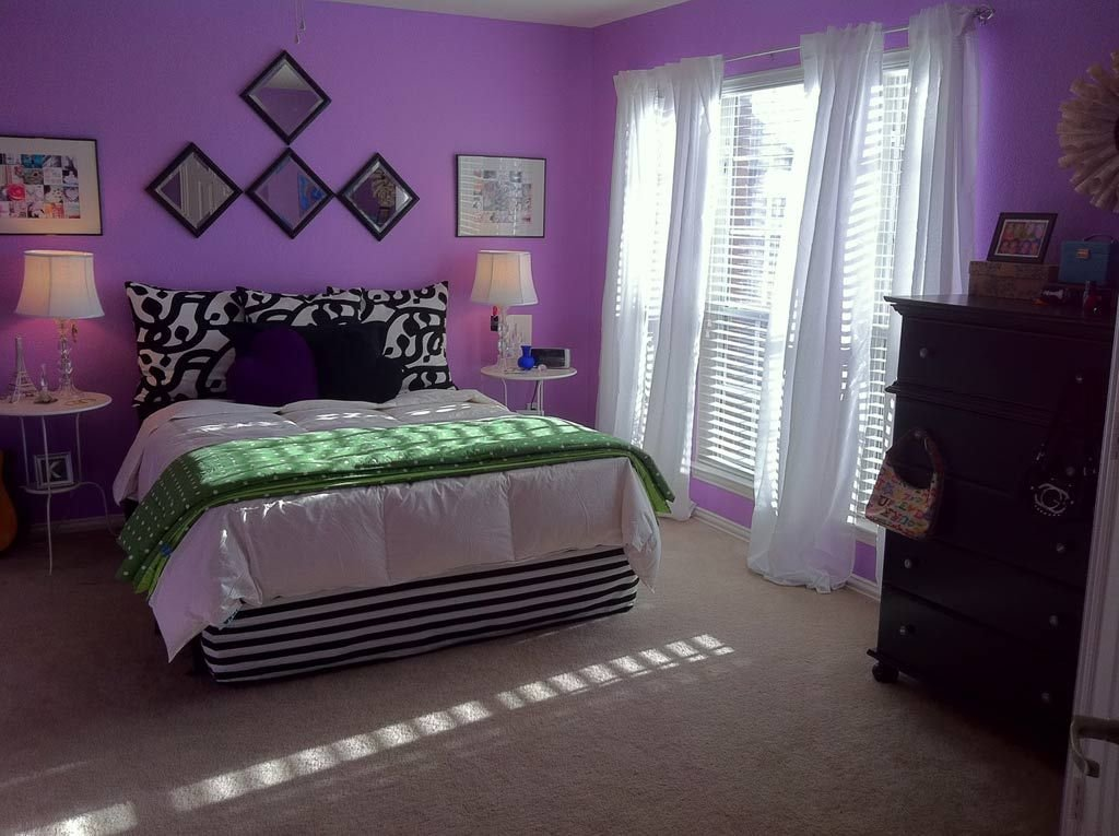 Best Diy Fabric Bedroom Decor With Purple Wall Paint 2957 With Pictures