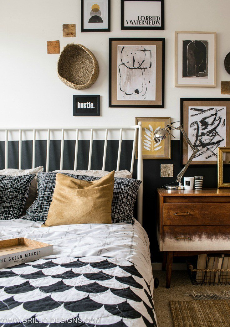 Best Modern Vintage Small Bedroom Makeover • Grillo Designs With Pictures