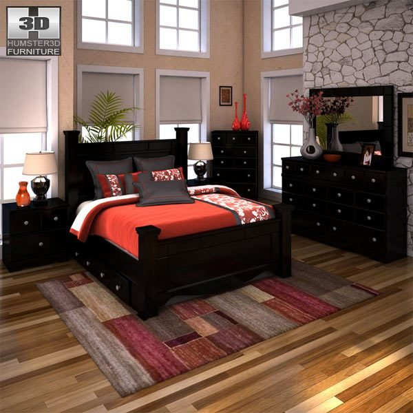Best Ashley Shay Poster Bedroom Set 3D Model Furniture On Hum3D With Pictures