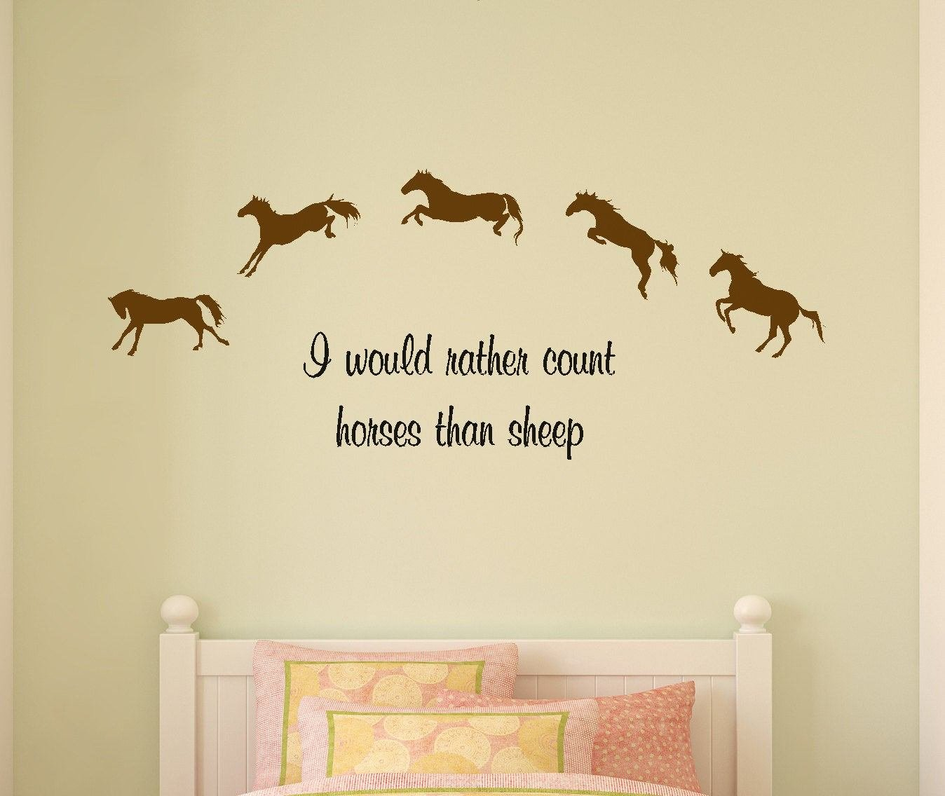 Best Horse Decal Horse Quote Childs Room Wall Sticker Girls Bedroom With Pictures