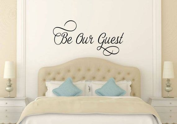 Best Be Our Guest Wall Decal Guest Room Decal Bedroom Decals With Pictures