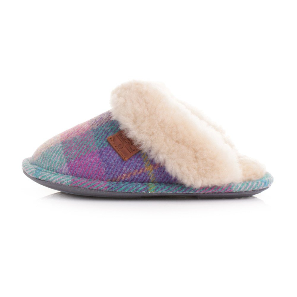 Best Ladies Bedroom Athletics Kate Lilac Blue Check Harris Tweed Slippers Size 3 4 8 Ebay With Pictures