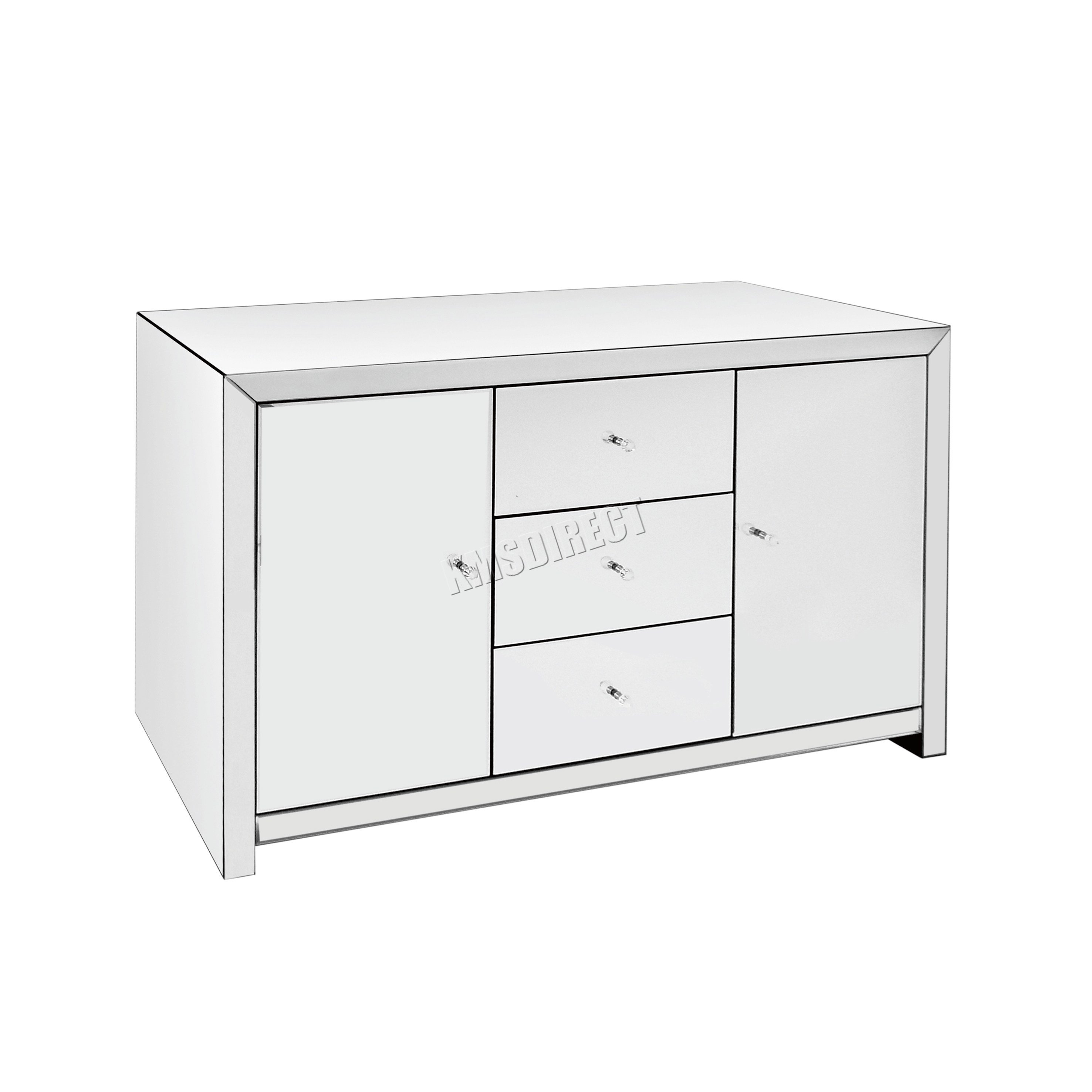 Best Westwood Mirrored Furniture Glass With Drawer Chest With Pictures