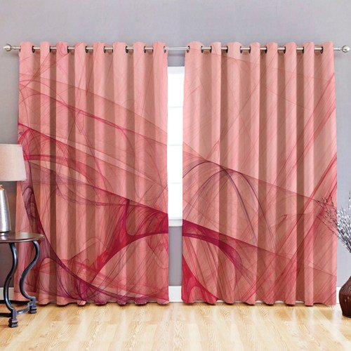 Best Blackout Fabric 3D Printed Curtains Eyelet Ready Made Ring With Pictures