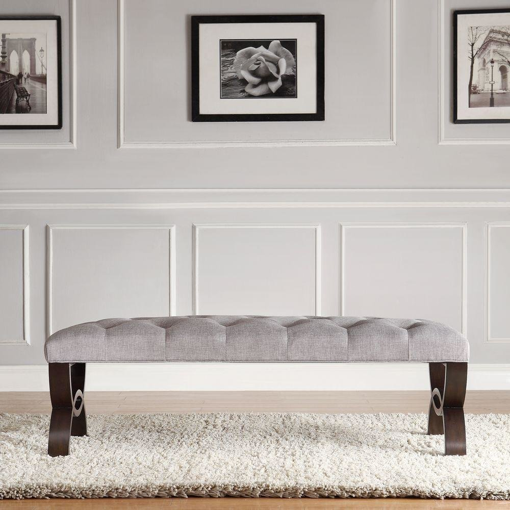 Best Homesullivan Columbia Grey Bench 40E348C240W The Home Depot With Pictures