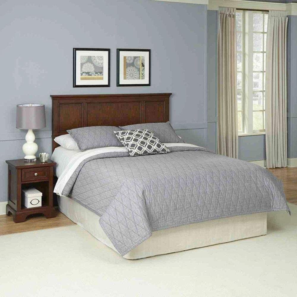 Best Home Styles Chesapeake 2 Piece Cherry Queen Bedroom Set 5529 5015 The Home Depot With Pictures
