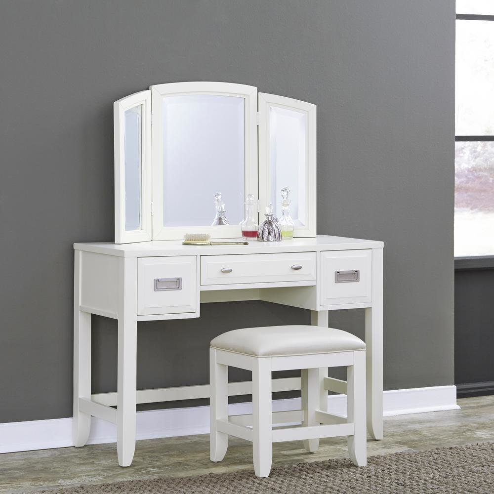 Best Makeup Vanities Bedroom Furniture The Home Depot With Pictures
