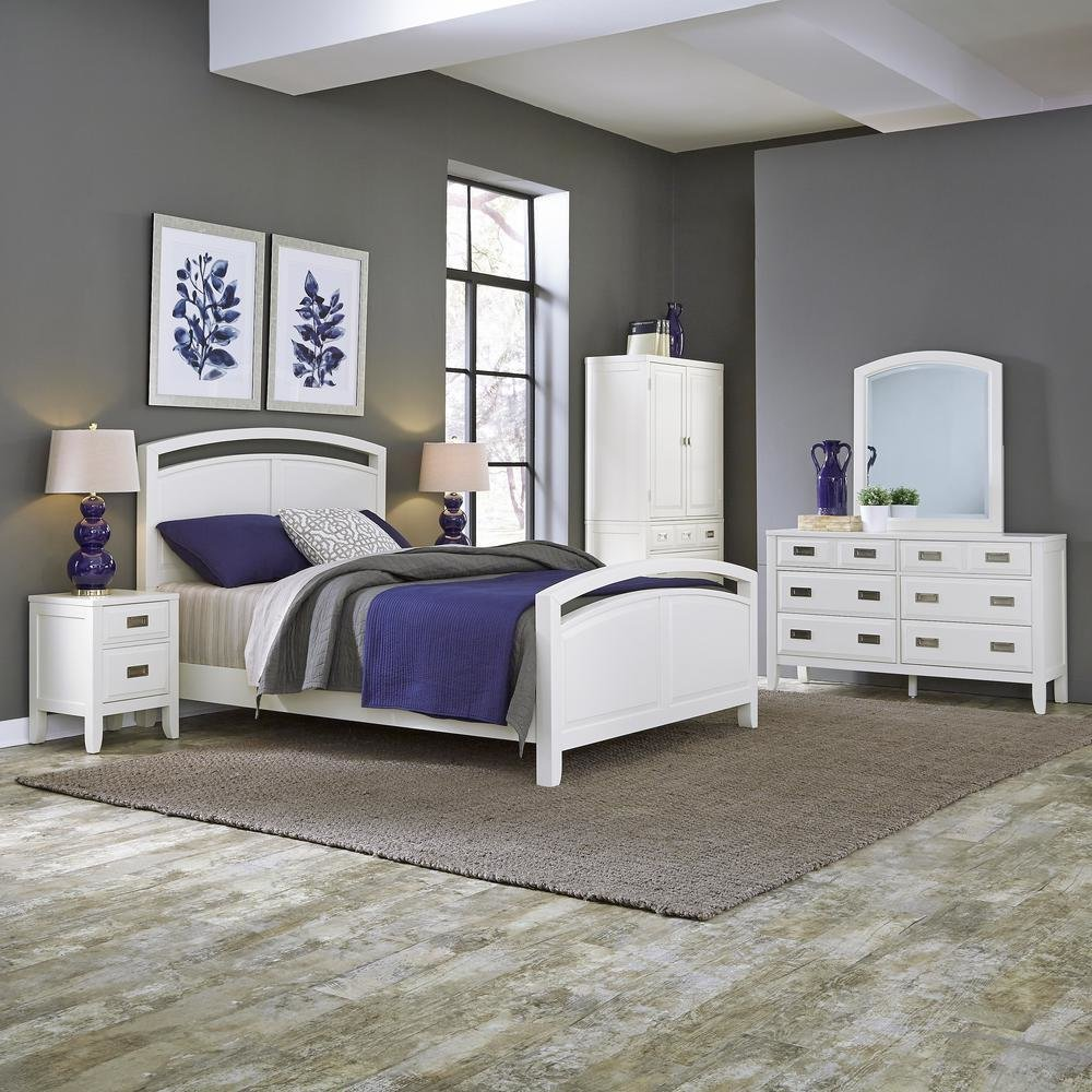 Best Home Styles Newport 5 Piece White Queen Bedroom Set 5515 With Pictures