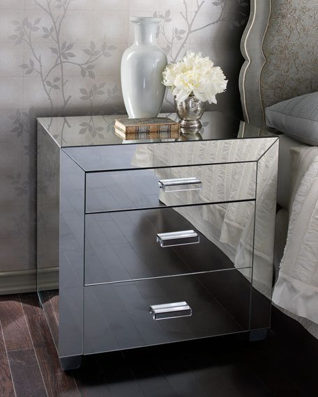 Best Clairmonte Mirrored Nightstand With Pictures