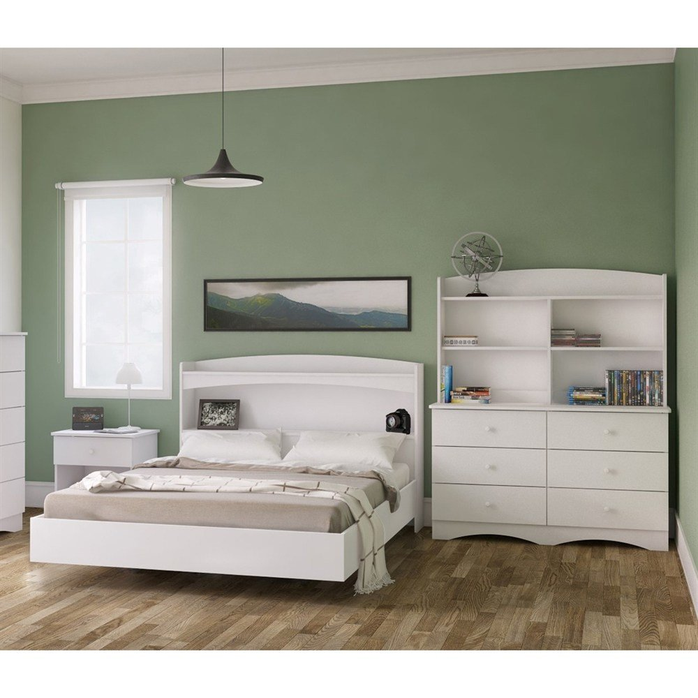 Best Nexera 400740 Vichy Bedroom Set With 6 Drawer Dresser With Pictures