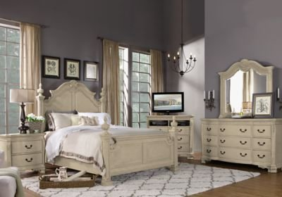 Best Cortinella Cream 7 Pc King Poster Bedroom King Bedroom With Pictures