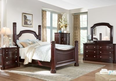 Best Dumont Cherry 5 Pc King Low Poster Bedroom Bedroom Sets With Pictures