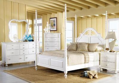 Best Seaside White 6 Pc Queen Poster Bedroom Traditional With Pictures