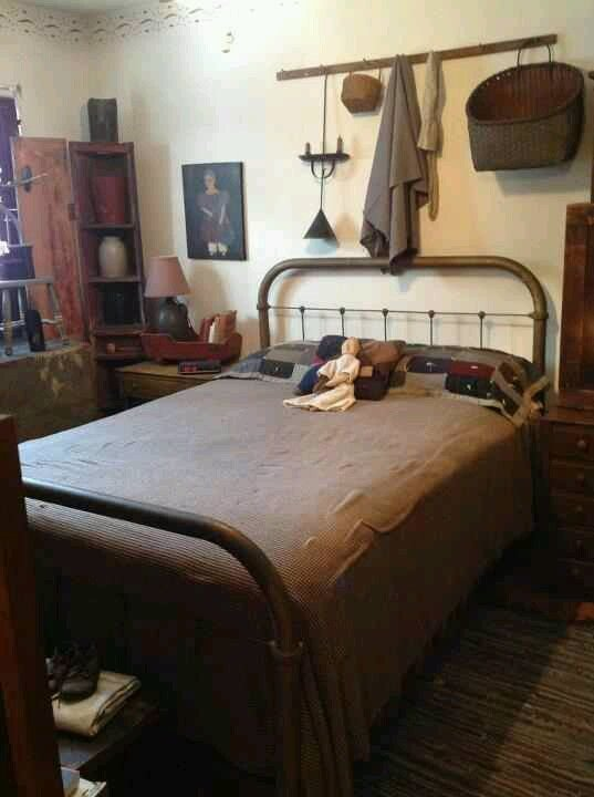 Best 157 Best Early American Bedrooms Images On Pinterest Primitive Bedroom Rustic Room And Prim Decor With Pictures