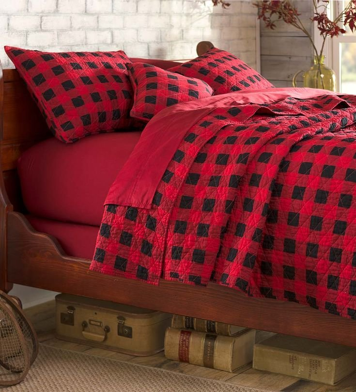 Best Buffalo Plaid Quilt Set Add Cabin Style To Your Bedroom With Pictures