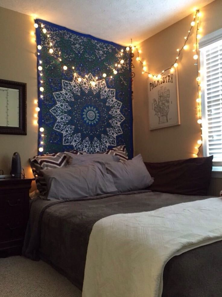 Best Tapestry And Firefly Lights New Room Boho Bedroom With Pictures