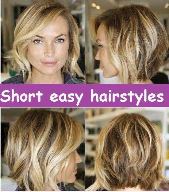 Free The Best Short Easy Hairstyles Images Collection Related Wallpaper