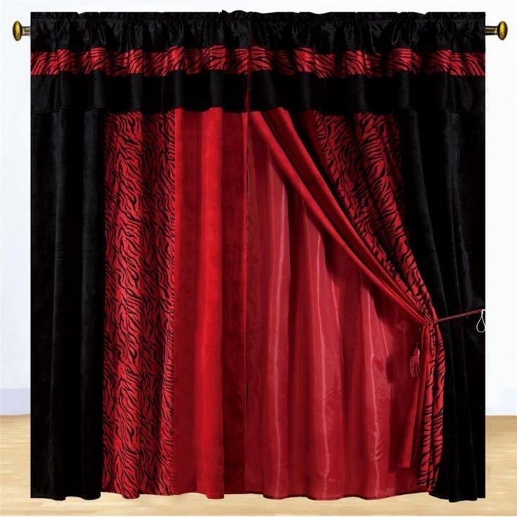 Best 25 Red Curtains Ideas On Pinterest Red Farmhouse With Pictures