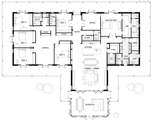 Best 25 6 Bedroom House Plans Ideas On Pinterest 6 With Pictures