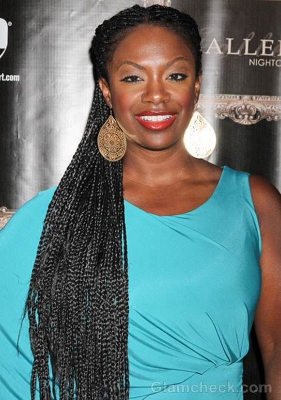 Free Kandi Burruss Long Skinny Braids Naturally Embraced In Wallpaper