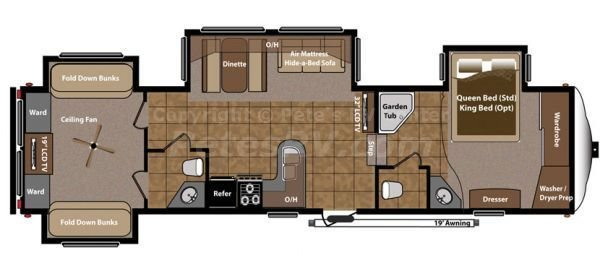 Best Fifth Wheel 2 Bedroom Campers Roughin It Montana With Pictures