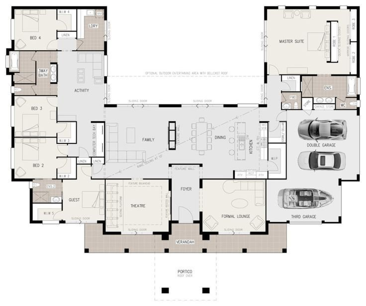 Best Floor Plan Friday U Shaped 5 Bedroom Family Home With Pictures