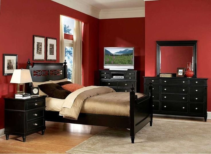 Best 11 Best Red Black Wall Bedroom Images On Pinterest With Pictures