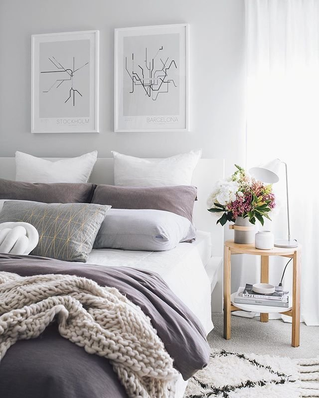 Best 25 Purple Gray Bedroom Ideas On Pinterest Color With Pictures