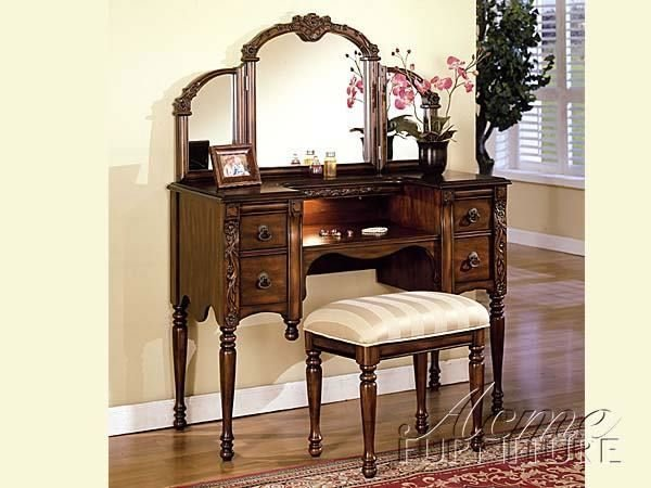 Best Antique Vanity Dresser With Mirror And Stool For Sale Furniture Bedroom Furniture Vanity With Pictures